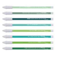 8er-Set Bleistifte Zitate grün