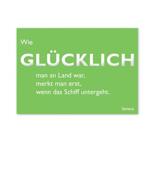 Postkarte Seneca Glücklich | CEDON