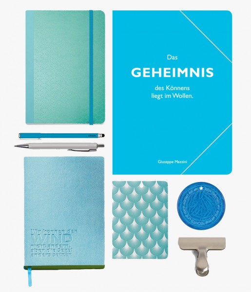 Schreibset Metallic blau | CEDON