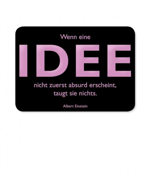 CEDON Postkarte Einstein, Idee