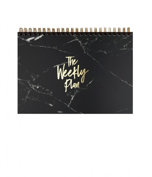 Wochenplaner Marble black | Real Passionates
