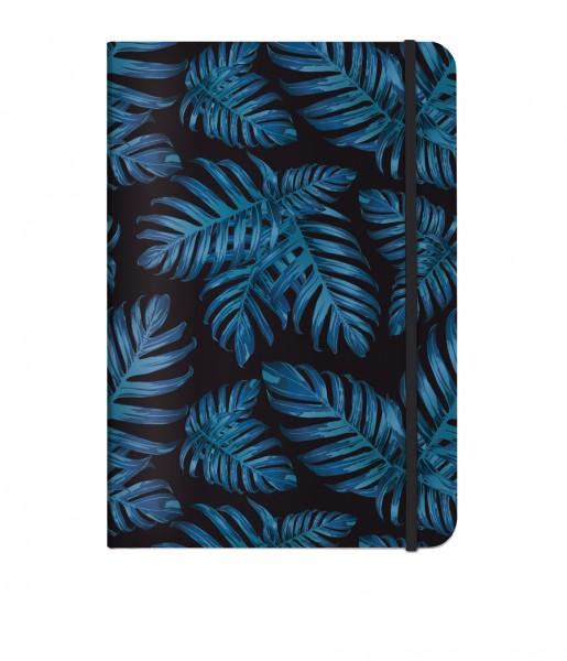 Notizbuch Philodendron blue DIN A5