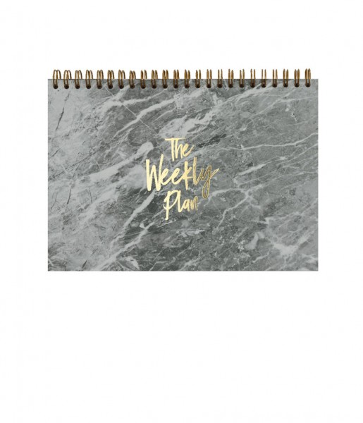 Wochenplaner Marble grey | Real Passionates