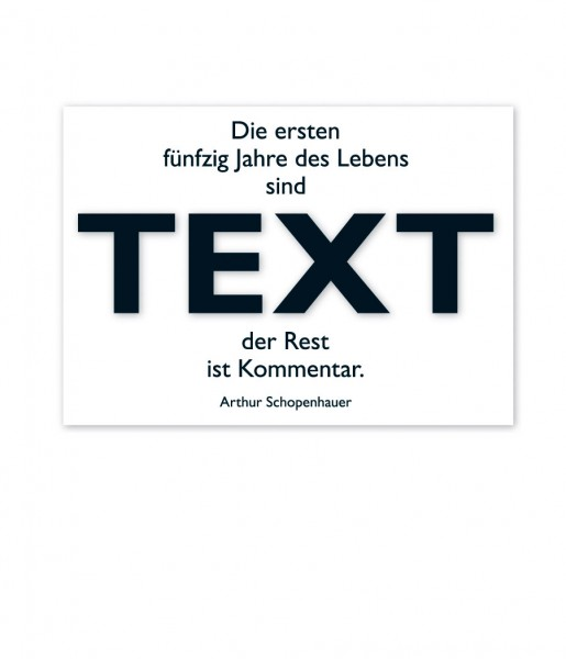Postkarte Schopenhauer Text | CEDON