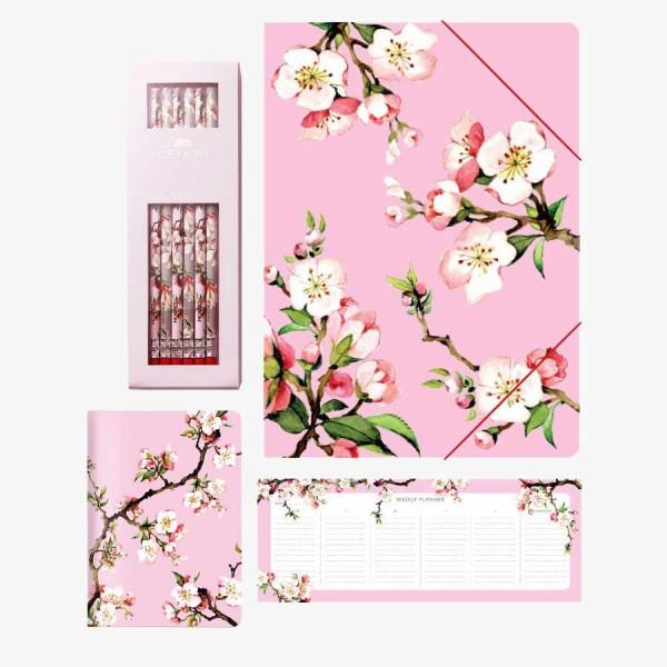 CEDON Schreibset Kirschblüte