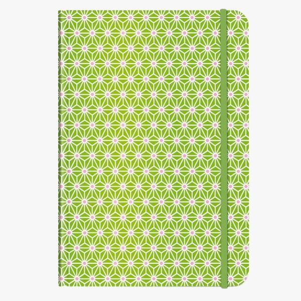 CEDON Notizbuch DIN A5 Asanoha grün