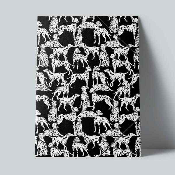 Sammelmappe Black and White Dogs