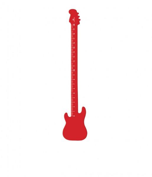 CEDON Lineal Gitarre rot