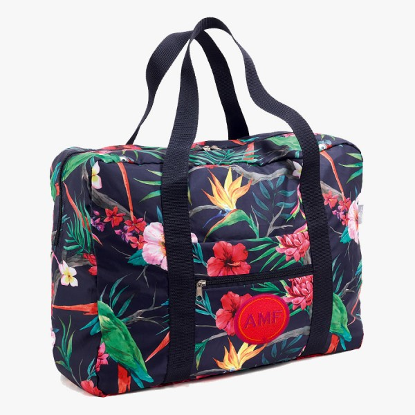 Easy Travel Bag Tropical mit Initialen-Patch