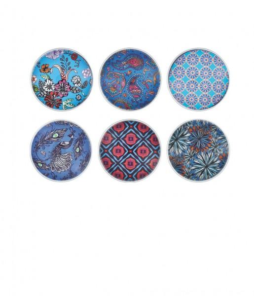Glasmagnete Muster blau | CEDON