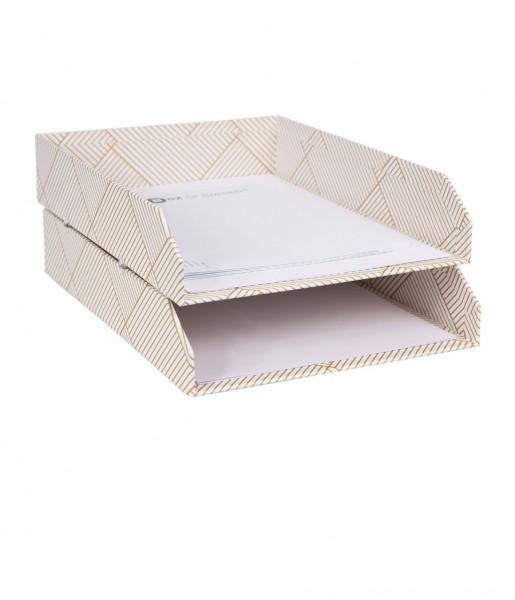Briefablagen HAKAN weiß/gold | Bigso