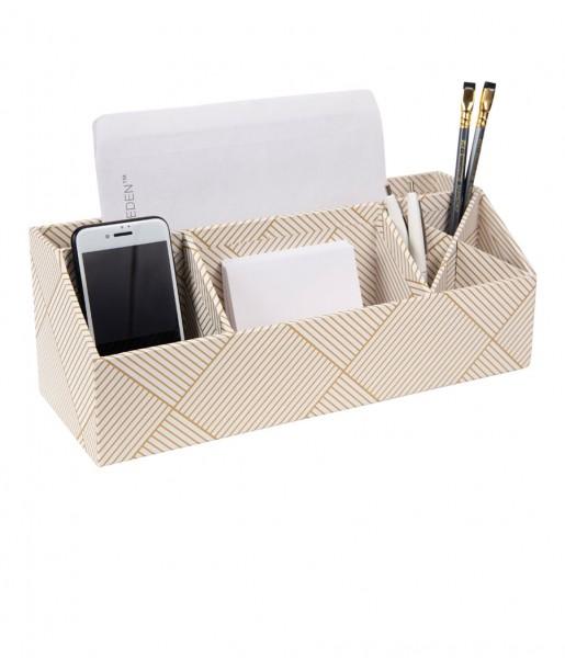 Schreibtischorganizer ELISA weiß/gold | Bigso