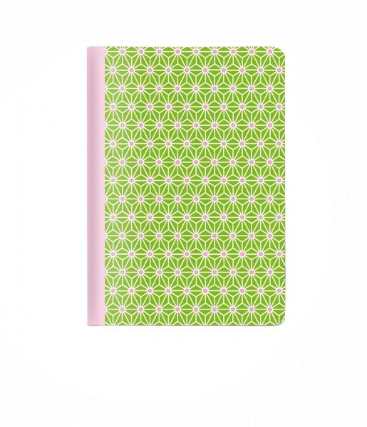 Wendeheft Asanoha grün DIN A6 | CEDON