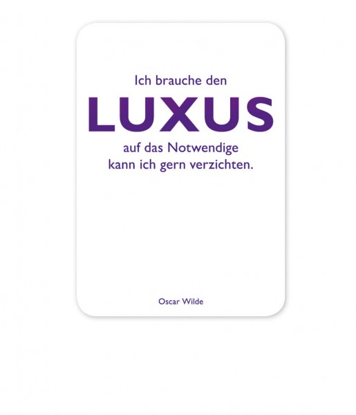 CEDON Postkarte Wilde, Luxus
