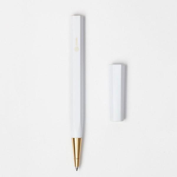 Kugelschreiber Resin weiß