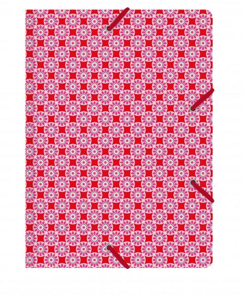 Sammelmappe de Luxe Kachel rosa-rot | CEDON