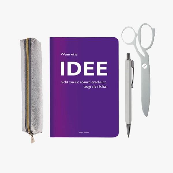 Mini-Schreibset Idee silber