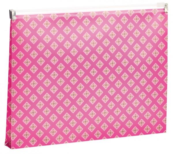 Zippertasche Ornament pink | CEDON