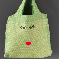 Easy Bag Asanoha grün mit Augen