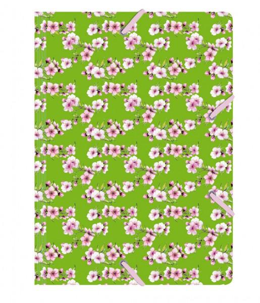 Sammelmappe de Luxe Blüten grün | CEDON