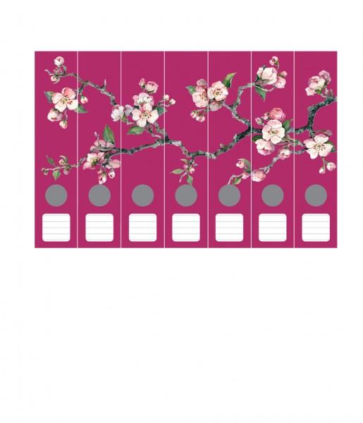 Ordnerrücken, Kirschblüten himbeer