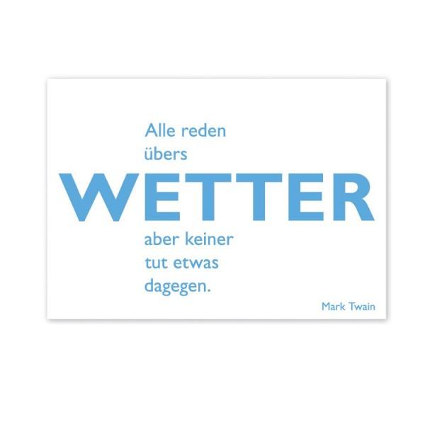 CEDON Postkarte Twain Wetter