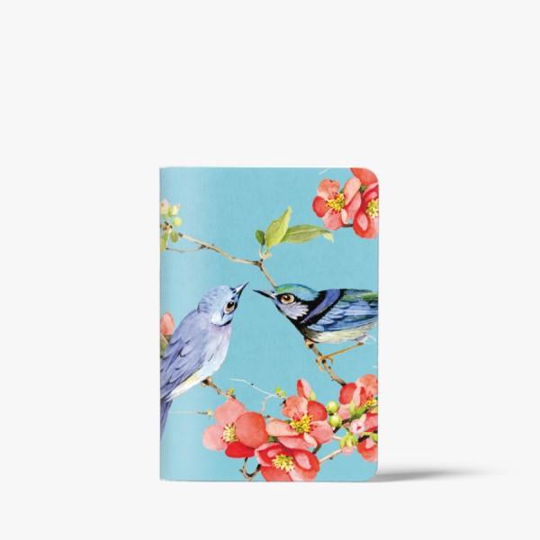 CEDON Heft A6 Vögel blau