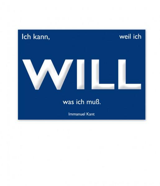 Postkarte Kant Will | CEDON