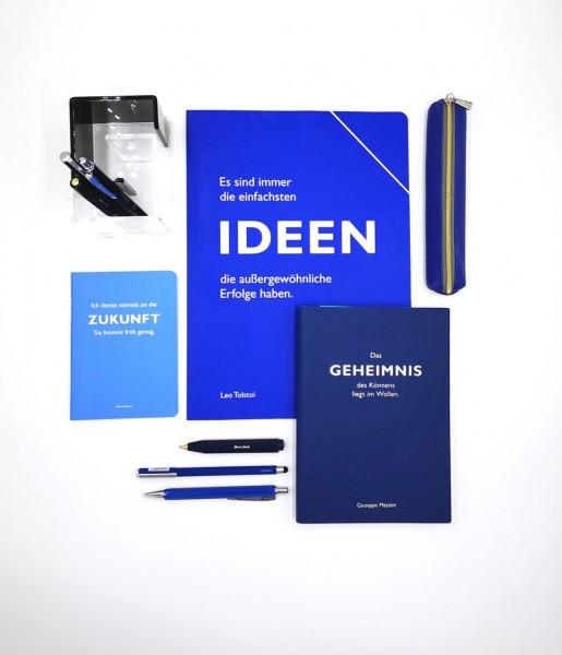 Schreibset Zitat blau | CEDON