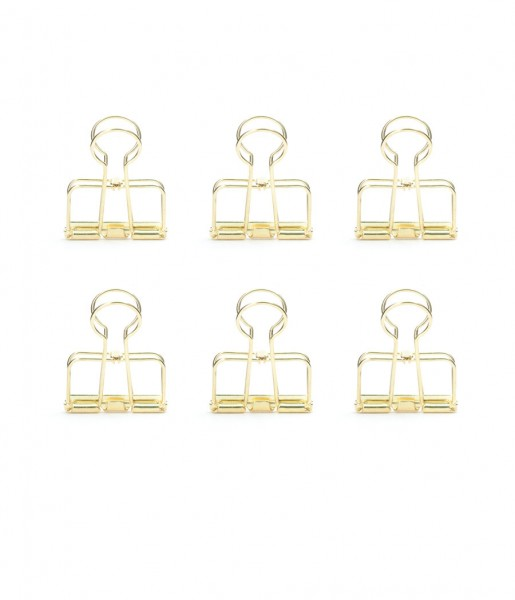 Wire Clips gold | Kikkerland