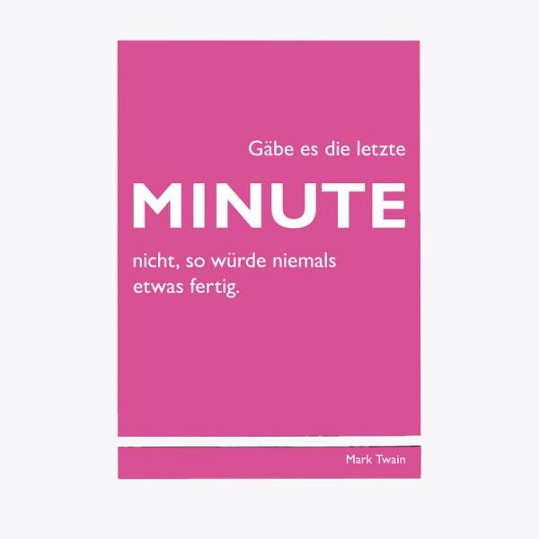 Schreibblock Minute