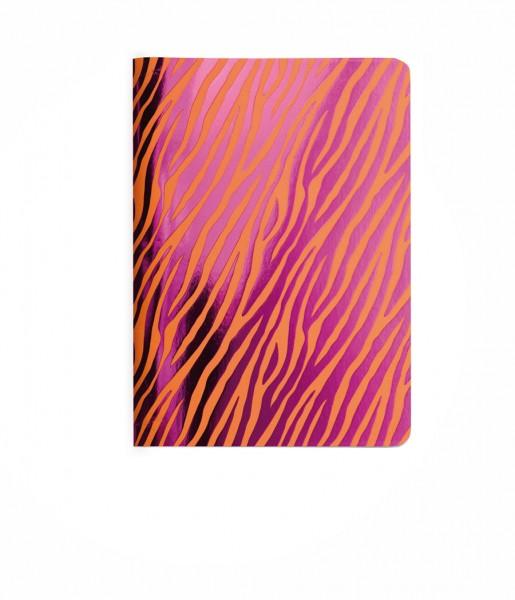 Heft Metallic Zebra orange DIN A6
