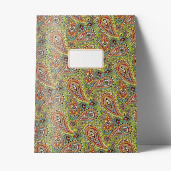 Heft A4 Paisley grün