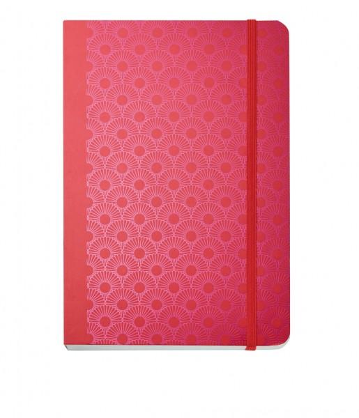 Notizbuch Metallic Daisy red DIN A5 | CEDON