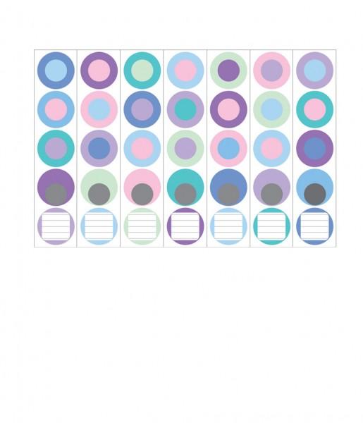 Ordnerrücken, Farbkreise pastell