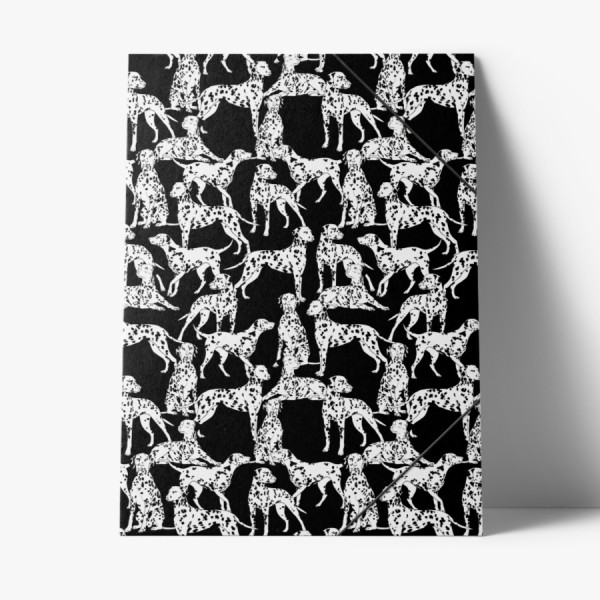 Sammelmappe Black and White Dogs