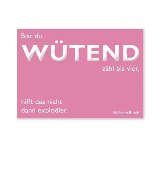 Postkarte Busch Wütend | CEDON