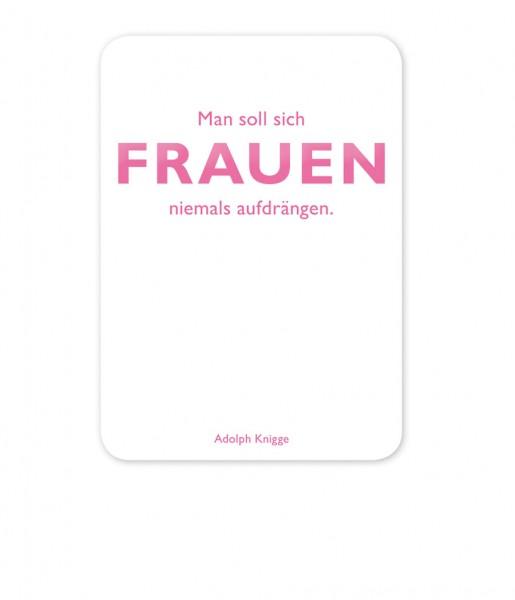 Postkarte Knigge Frauen