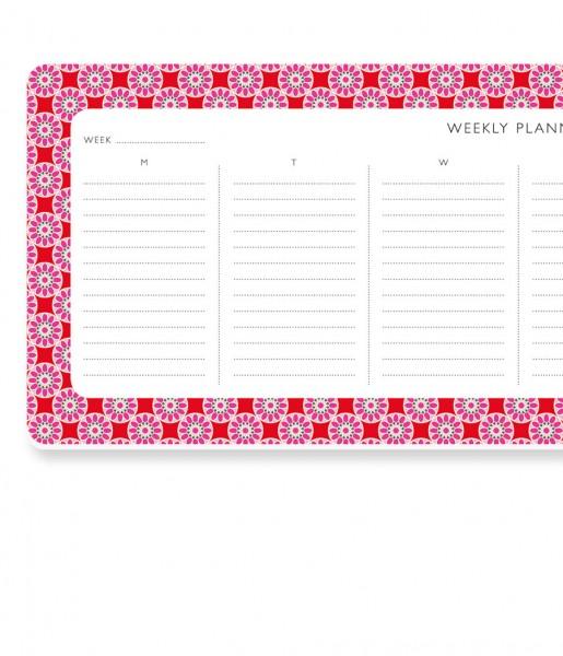 Wochenplaner Kachel rosa-rot | CEDON