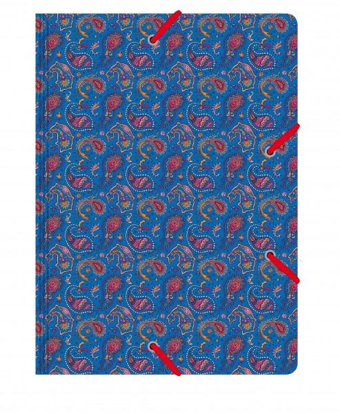 Sammelmappe de Luxe Paisley blau | CEDON