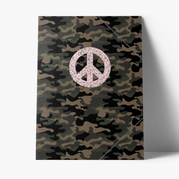 Sammelmappe Peace Camouflage