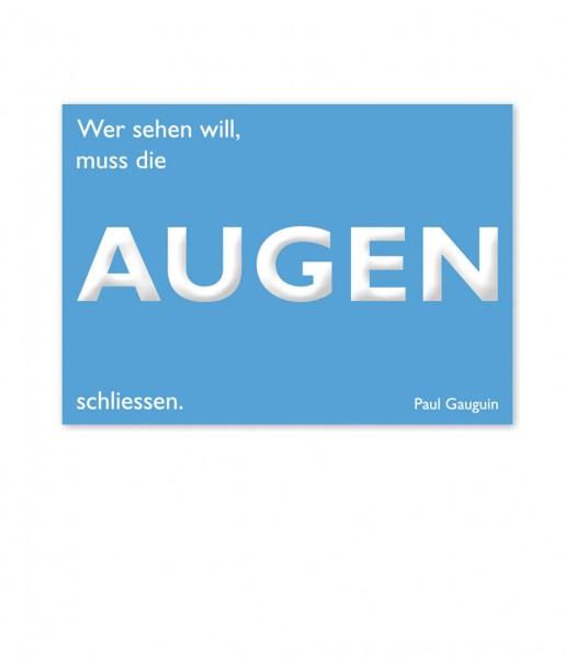 Postkarte Gauguin, Augen