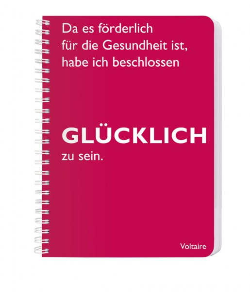 CEDON Ringbuch DIN A5, Voltaire, Glücklich