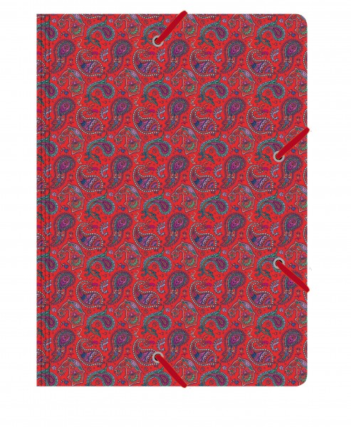 Sammelmappe de Luxe Paisley rot | CEDON