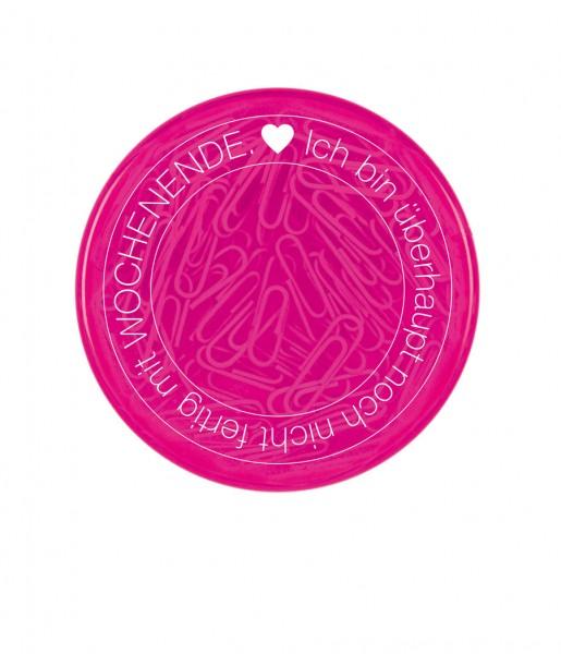 Büroklammerdose Wochenende pink