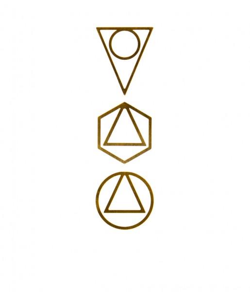 Papierclips 3er-Set Brass