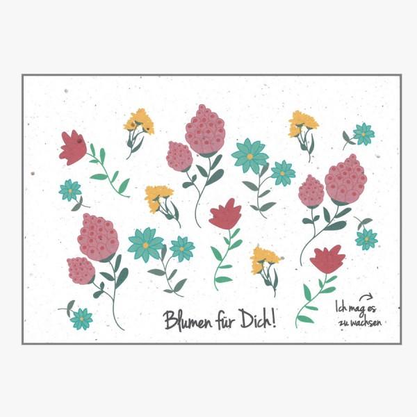 Grußkarte Blumen für Dich!