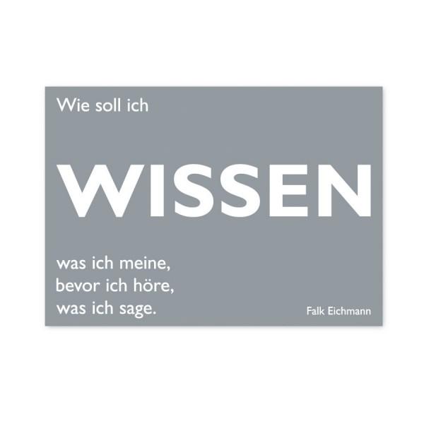 CEDON Postkarte Eichmann Wissen