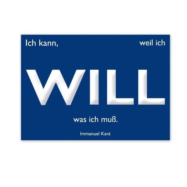CEDON Postkarte Kant Will