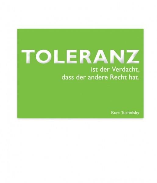 CEDON Postkarte Tucholsky, Toleranz